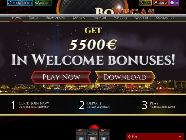 BOVegas Euro Best Bonus