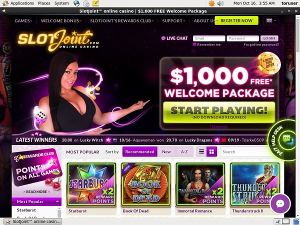 Get Slot Joint Free Spins