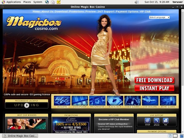 Magic Box Casino Live Games