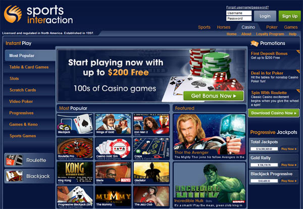 Sports Interaction Start Account